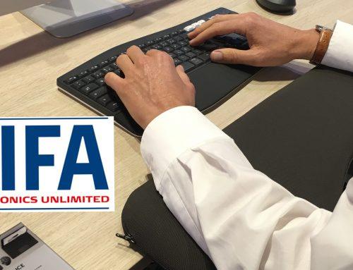 Die officeplus-Armauflage auf der IFA 2018